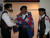 "Native American Veteran Mr. Freddie M. Canez Honored with ""Quilts of Valor"" Ceremony at CVMT"