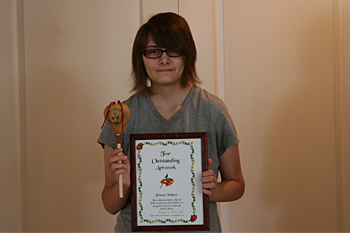 CVMT Tribal Member Tristian Wallace Receives Certificate of Recognition for Outstanding Artwork