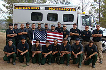 Yosemite Rim Fire - Geronimo Hotshots, San Carlos Apache Tribe - Firefighters