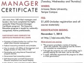 Arizona State University & NAFOA Tribal Financial Manager Certificate Program