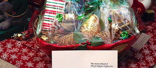 CVMT Received A Holiday Gift Basket From The Jackson Band of Miwuk Indians