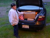 Tribal Elder Mildred Burley Assists CVMT in Delivering Food to Needy Families