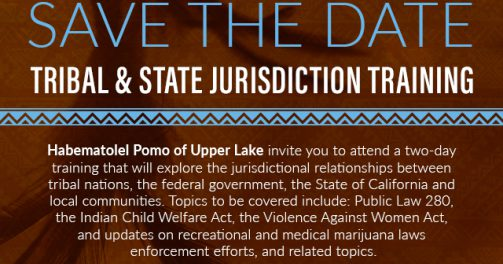 Upcoming local activities of interest in Indian Country - Jurisdiction training
