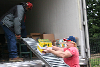CVMT Food Distribution Unhampered By Weather
