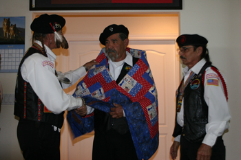 """Native American Veteran Mr. Freddie M. Canez Honored with """"Quilts of Valor"""" Ceremony at CVMT"""