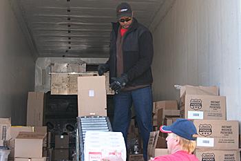 Sierra Foothills Storm Does Not Delay USDA Food Distribution at CVMT