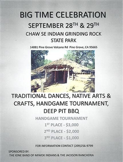 Big Time Celebration at Chaw'se Indian Grinding Rock State Park