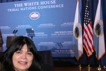 Chairperson Silvia Burley Attends the 5th White House Tribal Nations Conference