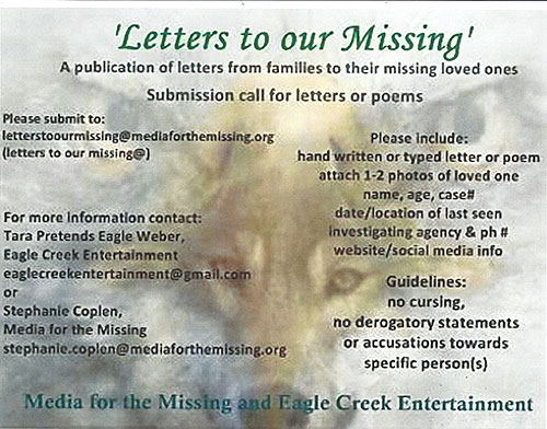 """The Book """"Letters to Our Missing"""" - For Native Families Who Have a Missing Loved One"""
