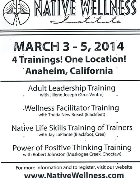 Native Wellness Institute – Four (4) Trainings! One Location! Anaheim, California