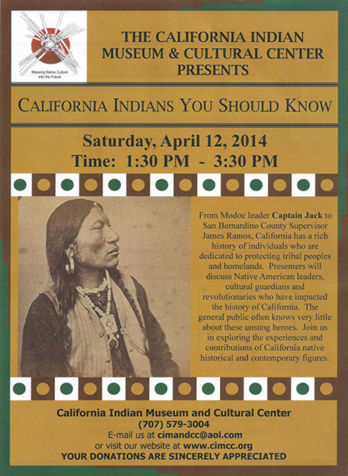 California Indians You Should Know - California Indian Museum