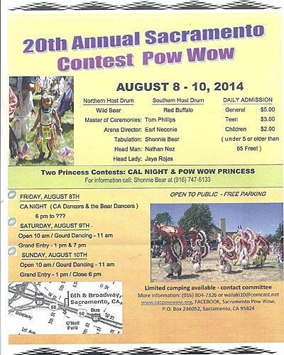 20th Annual Sacramento Contest Pow Wow