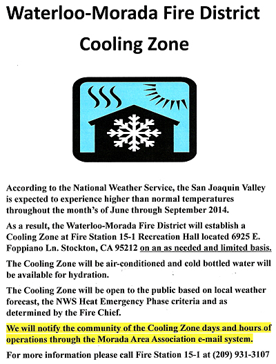 Cooling Zone