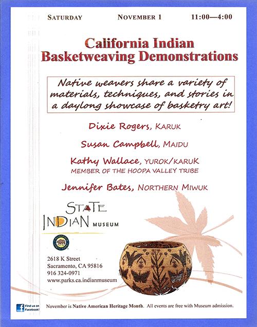 California Indian Basketweaving Demonstrations