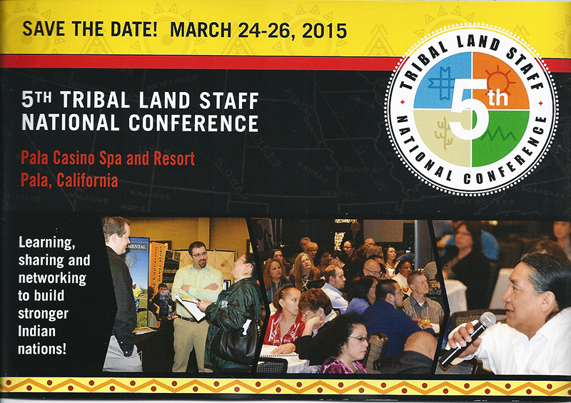 5th Tribal Land Staff National Conference Flyer
