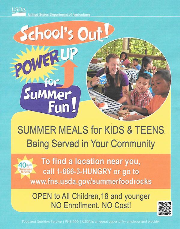 U.S. Dept. of Agriculture Summer Meals for Kids & Teens