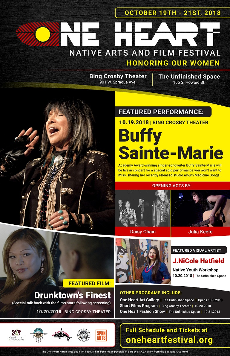 Native Arts and Film Festival October Event One Heart